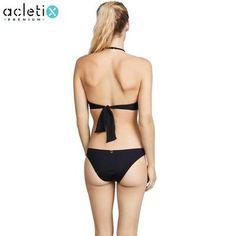 Selene - Premium Bikini Blue Bandeau Women Summer Girls Wearing Bikinis, Blue Bikini, Thong Bikini, One Piece, Spandex, Fabric, Swimwear, How To Wear, Spring Summer