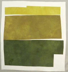 'Green x x Check out Gail Baar art quilts; this is unusual with white fabric in between Textile Design, Textile Art, Fabric Design, Fabric Art, Collages, Collage Art, Textiles, Strip Quilts, Quilted Wall Hangings