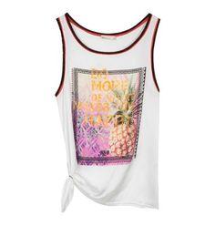 Sleeveless satin blouse with print Satin, Tank Tops, Blouse, Collection, Women, Fashion, Blouse Band, Halter Tops, Moda