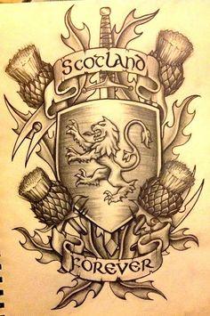 scottish tattoo design more scotland forever scottish celtic tattoo . Tatuajes New School, Lion Tattoo Images, Scotland Tattoo, Scotland History, Geniale Tattoos, Scottish Clans, Scottish Symbols, Scottish Gaelic, Coat Of Arms