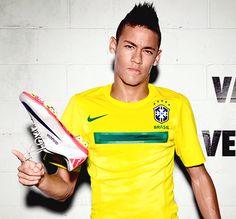 Neymar have a Nike Mercurial 2011 World Cup 2014, Fifa World Cup, Go Brazil, Sport Icon, Soccer Stars, Neymar Jr, Best Player, Football Players, Soccer
