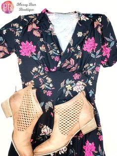 Grab some booties and show off your retro vibe in this fun baby floral dahlia dress #paisley Raye