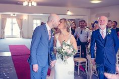 Bride And Groom Kiss During Ceremony At Italian Villa Wedding Photographs Photography By One Thousand