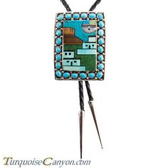 Navajo-Native-American-Turquoise-Bolo-Tie-by-Etcitty-and-James-SKU-228426