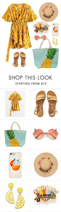 """summer days driving away, but oh the summer nights"" by mxgvi on Polyvore featuring Billabong, Kate Spade, Celebrate Shop and ban.do"