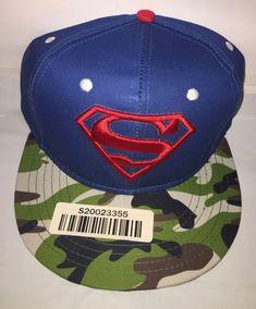 NEW-Superman DC Comics Camo Hawaii Snapback Adjustable Blue Hat Cap f966bef672d0