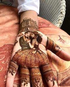 Browse the latest Mehndi Designs Ideas and images for brides online on HappyShappy! We have huge collection of Mehandi Designs for hands and legs, find and save your favorite Mehendi Design images. Mehndi Designs Book, Mehndi Designs 2018, Modern Mehndi Designs, Mehndi Design Pictures, Dulhan Mehndi Designs, Wedding Mehndi Designs, Beautiful Mehndi Design, Mehndi Designs For Hands, Tattoo Designs