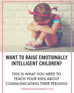 Teach your kids to understand, name & connect their feelings to situations. Raising emotionally intelligent people to be empathetic & better communicators.