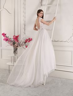 6ebd42eab8c5 Demetrios - Wedding Dress Style 827 Sheer Wedding Dress