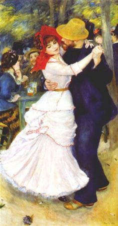 Dance at Bougival, 1883 by Pierre-Auguste Renoir, Rejection of Impressionism. Impressionism. genre painting