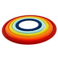 """5pc silicone trivet set (2026) Durable, non-slip silicone Heat resistant up to 550 degrees Fahrenheit Protects surfaces from heat and condensation Sizes include approx. 4"""", 5"""", 6"""", 7"""" and 8"""" diameters Nesting design for space-saving storage Hand wash recommended"""