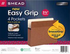 "#smeadcontest ""Grip strip"" on a pocket folder to provide twice the grip of a standard pocket.  www.facebook.com/cluborganomics  www.twitter.com/smeadorganomics  www.youtube.com/smeadorganomics  www.Gplus.to/Smead  www.pinterest.com/smeadorganomics"