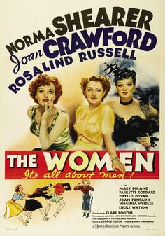 Movie Poster Photo Magnet THE WOMEN 1939 Norma Shearer Joan Crawford