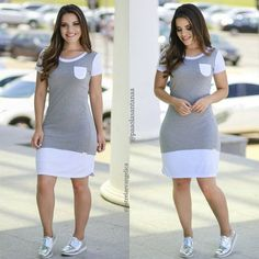 Plus size outfits Casual Work Outfits, Chic Outfits, Fashion Outfits, Modest Dresses, Casual Dresses, Short Dresses, Modest Fashion, Girl Fashion, African Fashion Dresses