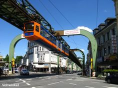 Schwebebahn (suspended train) in Wuppertal #germany #transit #design