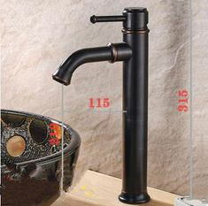 Antique Black Bronze Brass Bathroom Mixer Water Sink Tap TB0169Z