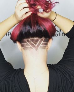 Undercut design done by Sr Stylist Jess R at Aurelio Salon of Howell NJ