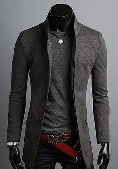 KOREAN Mens Slim Fit Premium Button Jacket China Collar Long Blazer HD6-XS/S/M/L http://www.99wtf.net/men/mens-fasion/smart-casual-men/