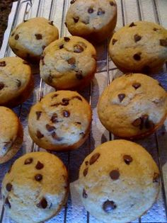 Chocolate Chip Muffins-These are great but I suggest adding a little more sugar.