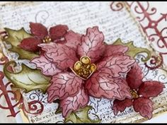 How to create a vellum poinsettia with Heartfelt Creations Sparkling Poinsettia - YouTube