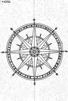 trash polka compass rose - Google Search