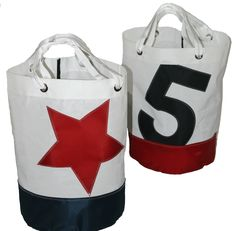 Bucket Bags - Bags by Re-Sails  LOVE THESE PRODUCTS