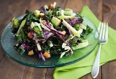 crunchy kale salad recipe | use real butter