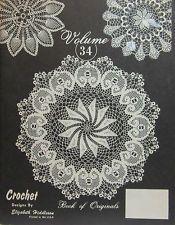 Elizabeth Hiddleson Crochet Pattern Book of Originals Volume # 34 Doilies