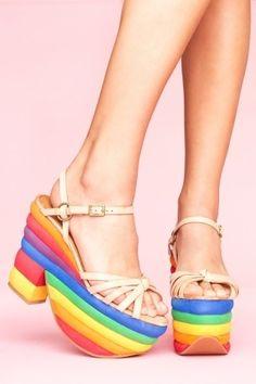 Avalon Rainbow Platform | NASTY GAL | Jeffrey Campbell shoes, Cheap Monday, MinkPink, BB Dakota, UNIF + more! - StyleSays