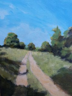 Up the Wagon Path Acrylic on Canvas Panel Copyright 2014