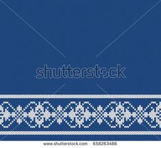 Norway Festive Border Fairisle. Seamless Knitting Pattern