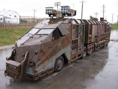 Ready for the apocalypse! Zombie Survival Vehicle, Zombie Apocalypse Survival, Bug Out Vehicle, Doomsday Survival, Zombies, Custom Trucks, Custom Cars, Cool Trucks, Cool Cars