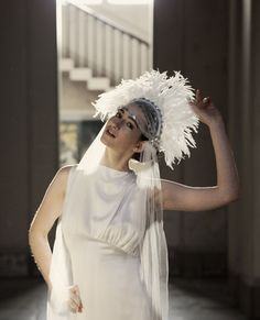 ❤ Such a statement! ❤ Bridal bohemian feather crown headpiece