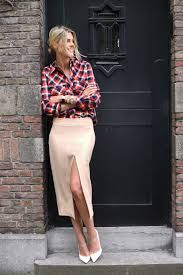 Resultado de imagen para plaid shirt with skirt