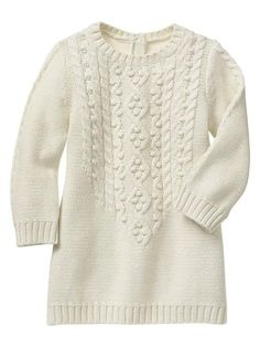 I had no idea knitted tunic might work so well for baby/toddler. This one is super cozy.