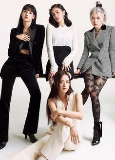 Blackpink Lisa, South Korean Girls, Korean Girl Groups, Lisa Park, Blackpink Poster, Mode Kpop, Kim Jisoo, Black Pink Kpop, Elle Magazine