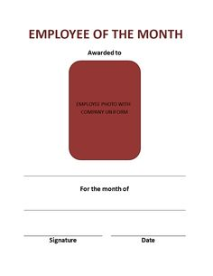 Free employee of the month template for employee recognition in employee of the month wall certificate a great way to bring your star employee under yelopaper Image collections