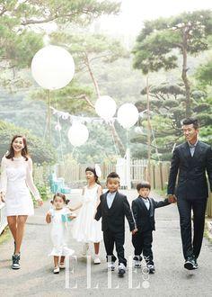 결혼 10년차, 정혜영, 션 리마인드 웨딩 | 엘르코리아(ELLE KOREA) Jinusean and family