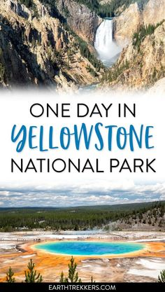 One Day in Yellowstone Itinerary and Travel Guide. #yellowstone #itinerary #nationalpark