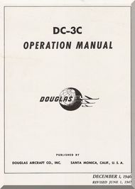 Douglas C Aircraft Operating Instructions Manual