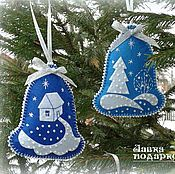 Buy Christmas tree from felt - Bell in online store at the Fair of Masters Handmade Christmas Decorations, Christmas Ornaments To Make, Felt Decorations, Christmas Sewing, Christmas Makes, Christmas Projects, Felt Crafts, Holiday Crafts, Christmas Crafts