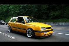 Mk3 golf - yellow car