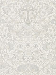 Pure Lodden Chalk / Eggshell wallpaper by Morris