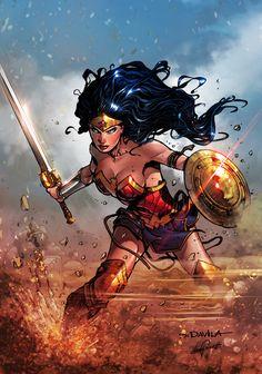 "redskullspage: "" Wonder Woman 2017 Pencils by Sergio Dávila. Colors by Leonardo Paciarotti """