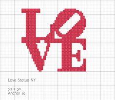 ARTESANATO COM QUIANE - Paps,Moldes,E.V.A,Feltro,Costuras,Fofuchas 3D: Gráfico Love Statue NY