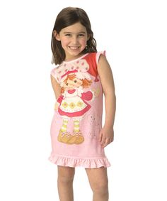 Look at this Pink Strawberry Shortcake Ruffle Nightgown - Toddler & Girls on #zulily today!