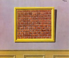 The Empty Picture Frame, 1934 by Rene Magritte  #magritte #paintings #art