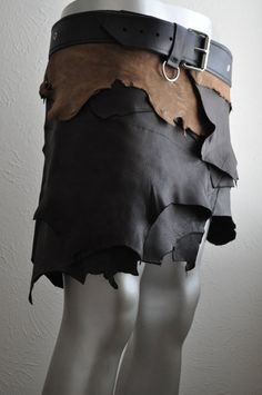 Leather Love and War Skirt Browns by Parkers by parkersandquinn, $200.00