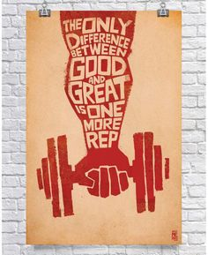 Gym Poster - Weightlifting Poster - Fitness Motivation Poster - Bodybuilding Poster - Difference Between Good & Great Bodybuilding Posters, Fitness Bodybuilding, Bodybuilding Motivation, Fitness Studio Motivation, Gym Motivation, Fitness Quotes, Fitness Tips, Gym Fitness, Blink Fitness