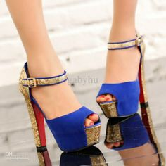 jewlery heel cover | blue and gold of course!